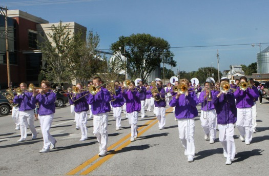 Blair Otte Middle School Marching Band.