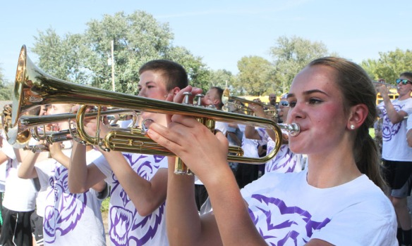 Blair High School marchng band.