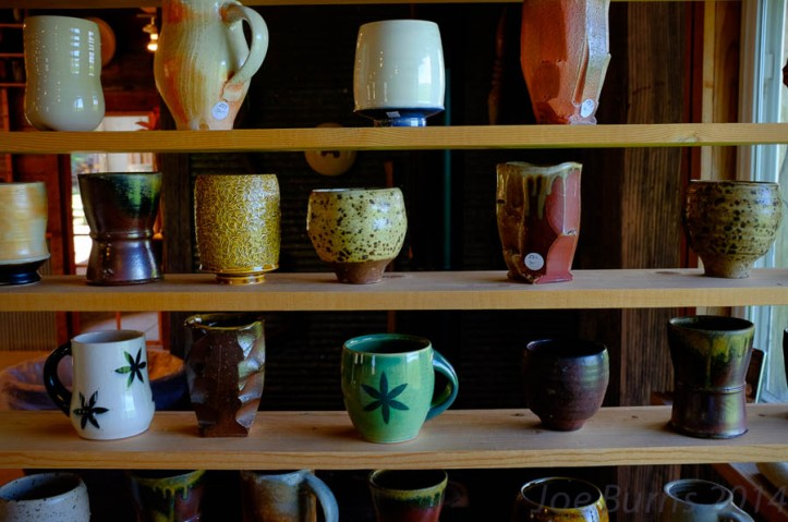 Big Table Studios pottery display