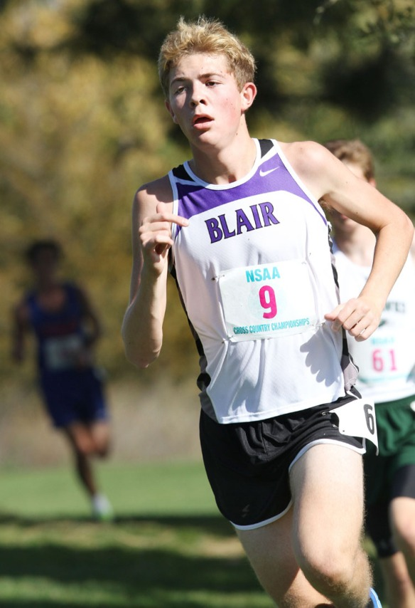 Alec Wick placed 25th in the Class B boys state cross country championships Friday in Kearney.