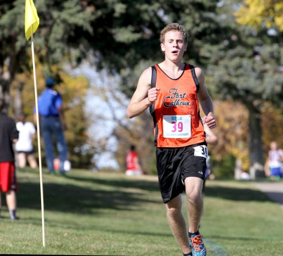 Alex Tietz led through most of the race but stumbled and nearly collapsed near the finish line. Alex placed third in the Class C boys race.