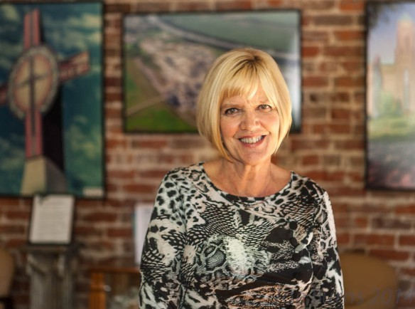 Blair Chamber of Commerce executive director Harriet Waite will