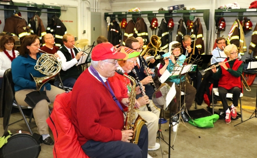 Blair Area Community Band playing at the South Fire Station.