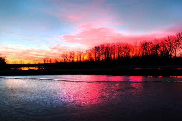 Sunset at Boyer Chute near Fort Calhoun