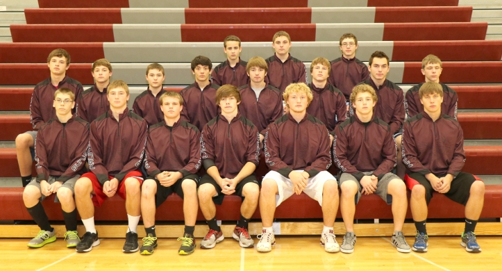 Arlington Wrestling Team From row, from left: Derek Warner, Riley Smith, Brad Ernesti, Jonathan Smailys, Brantley Goos, Jacob Frink, Jacob Miller.  Middle row: Austin Kruse, Jason Frink, Justin Allen, Acie Bernholtz, Clayton Koch, Hayden Orebaugh, Phillip Spenner, Chris Rihas. Back row: Blake Grefe, William Byers, Dallas Gilcrist.  Not pictured: Conner Scheer, John Brooks.