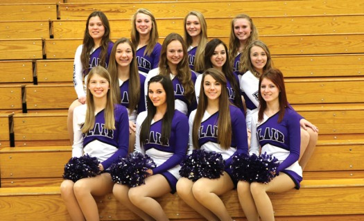Dance team: Front row, from left:  Drew Damme, Lexi Wulf, Kiah Shaw, Haley Devney. Middle row: Erika Swenson, Sarah Sheehan, Amber Roehrs, Bailee Fought.,  Back row: Chloe Martin, Carolyn Anderson, Ellie Myers, Sarah Parks.