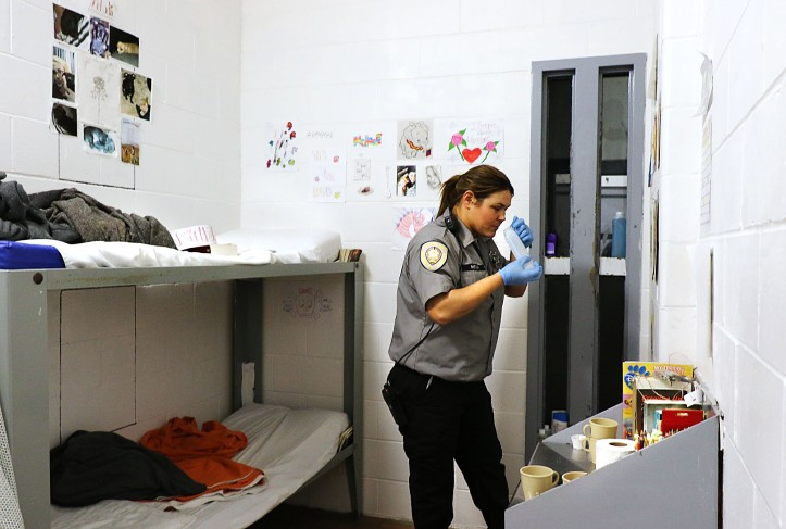 turday night during a cell search Saturday night while inmates are at rec time. Officers search the cell blocks periodically in a two week period.