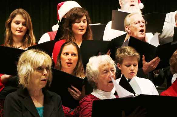 Prior to the band concert, The Blair Community Chorus under the direction of Molly Willing performed a concert of holiday selections.