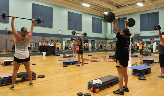 Fitness class at the Fremont Family YMCA
