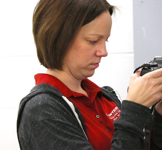 Online and Arlington Citizen Editor Leeanna Ellis videos a cell search by Washington County Jai corrections officer Shawna Brown and Jenny Meyer.