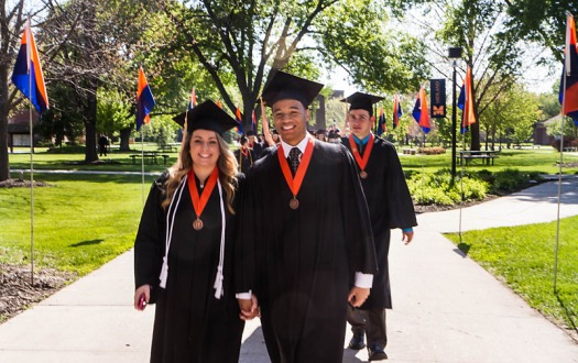 Midland College commencement procession.