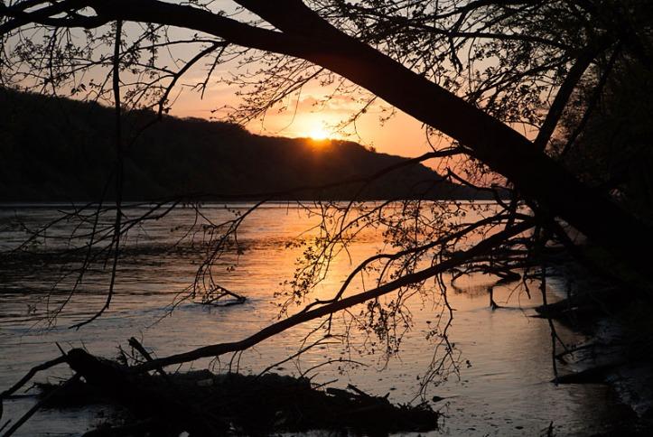 Platte river from Hormel Park in Fremont, NE.