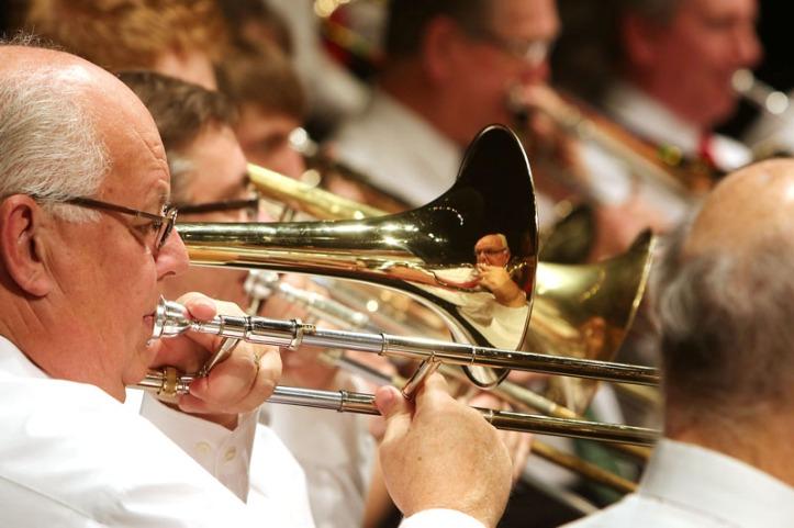 Trombone player Terry Hanzlick, Music Supervisor, Counncil Bluffs