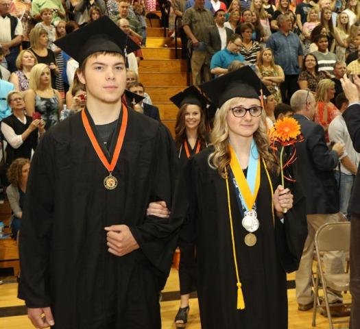 Tanner Coleman and Sarah Determan