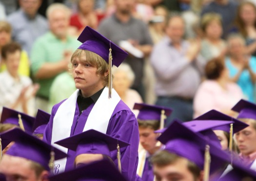 Joining armed services , Blair Commencement 2015