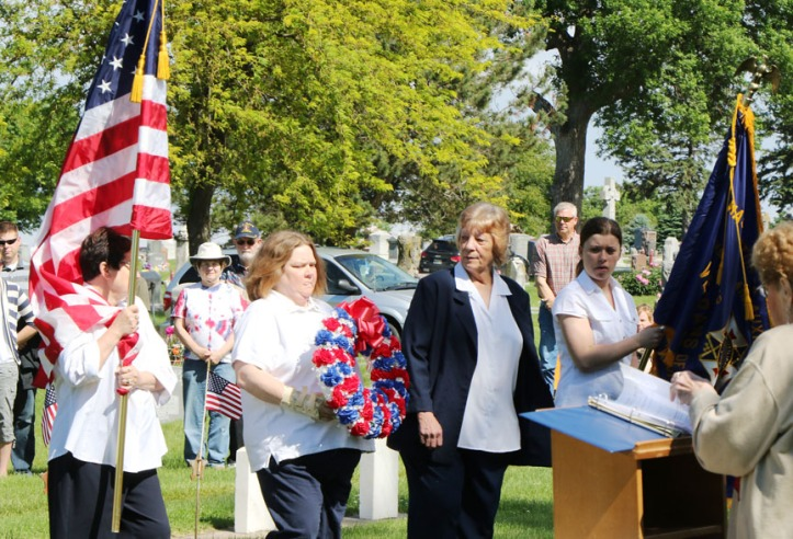 Memorial Day service, Blair