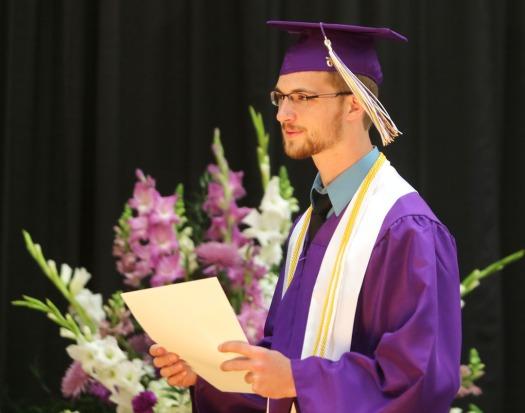 Dean Penner, Scholarship recognition, Blair Commencement 2015