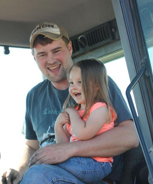 Jarett Andersen with daughter Haiey Anderson