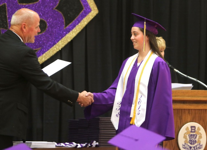 Madeline Misfeldt, scholarship, Blair Commencement 2015