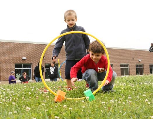 Ryan Quick and Draeson Allen.Blair Pre-school, Deefield, Lauren Diffey