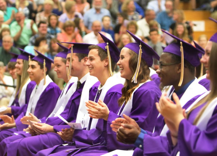 Seniors respond to Dean Penner's remarks, Blair Commencement 2015