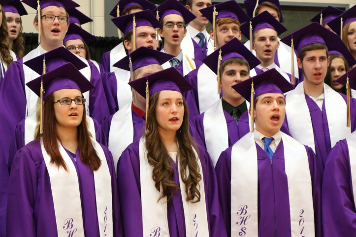 "Senior Vocal Ensemble sings ""Last Call."" Blair Commencement 2015"