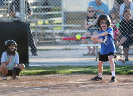 Hannah Heuton gives the ball a ride