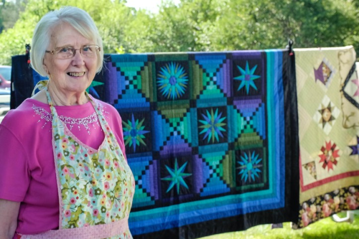 Long time Washington County quilter Darlene Harper was the feature quilter at this year's Quilts in the Country quilt show and Garden Tour.