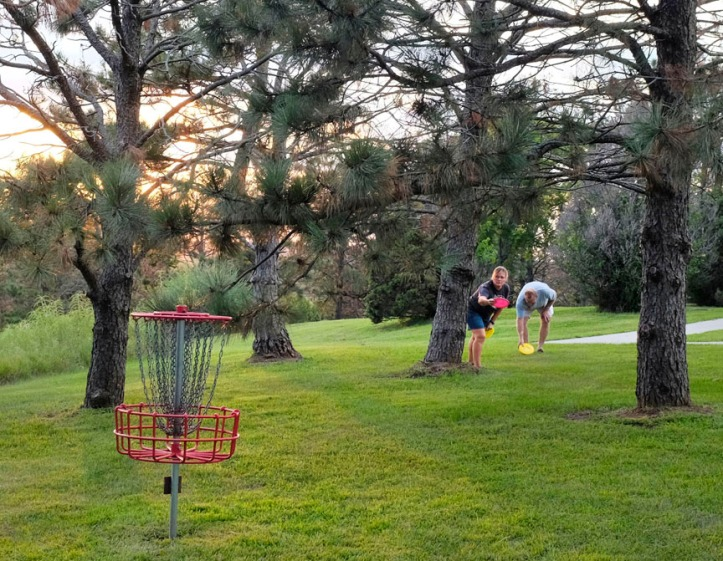Following a picnic dinner, this Omaha couple played a round of disc golf at Black Elk -Neihardt Park. They say the course is one of the best and most beautiful disc golf courses in the Omaha metro area