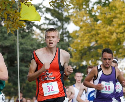 Fort Calhoun runner Colton Folkers medals in class in State meet at Kearney.