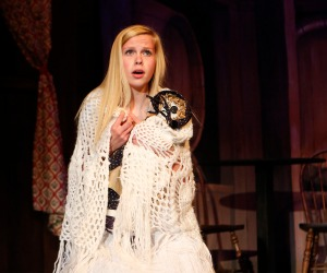Jenna Carlson as the young Cossette in the Blair Musical production of Les Miserables..
