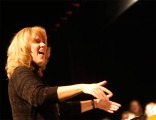 Guest conductor, Arbor Park music teacher and Blair Alum Kay Dickenson conducted the combined choirs, alumni and friends in a the Hallelujah Chorus from the Messiah. The combined performance has been a Blair tradition for more than 50 years.