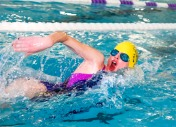 Sophia Erickson swims her heat in the Girls 200 Yard Freestyle.