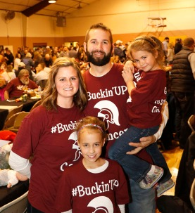 Huge turnout for the Bucky Timm family benefit at the Arlington Auditorium tonight sponsored by the Arlington Spartans baseball team.