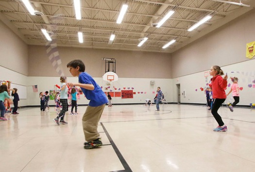 North School jump rope for heart