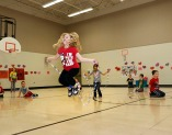 North School second grade students jumping rope.