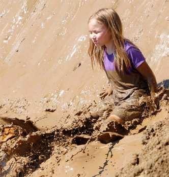YMCA Day Campers at the Mud Run at Mount Crescent
