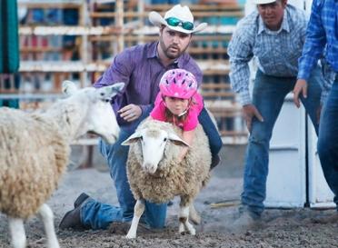 Mutton Buster Kyleigh Logemann Friday Rodeo