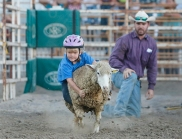 Mutton buster Lane Jackson Friday night Rodeo