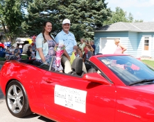Washington County Fair parade Grand Marshall Edmond Talbot