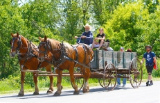 Barry Jurgensen and Forever Free companions traveled on foot and by horse and wagon from Nebraska City to Tabor Iowa. This is just day one of the 32 day, 525 mile adventure following the underground railroad path of escaped slaves Celia and Eliza in 1858.