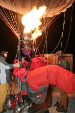 Rich Jaworski prepares to ascend fro St Francis Borgia parking lot for a long distance flight in February, 2006.