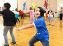 Fourth grade students move with the music