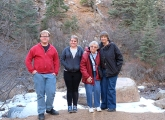 From right, Kevin and Emily Burns, Dorothy Farthing and Vickie Lusk in North Cheyenne Canyon in Colorado Springs.