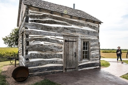 Exterior of Palmer- Epard cabin built in 1867, Homestead National Monument, Beatrice, NE.
