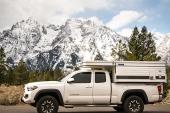 My Toyota Tacoma pickup and Four Wheel Camper near Jenny Lake, Grand Teton National Park.