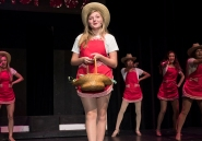 Payton Murray and Hot Box girls rehearse a scene from 'Guys and Dolls.""
