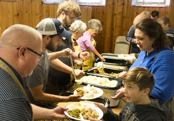 St Mary's Episcopal Church in Blair served up around 850 turkey dinners at the annual church fund raiser on Sunday.