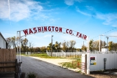 Washington County Fair stood at the entrance to the fairgrounds now graces the entrance to the outdoor arena.