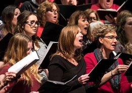 Blair Area Community Choir performed five numbers during the Sunday afternoon combined community and and choir concert held in the auditorium at Blair High School.
